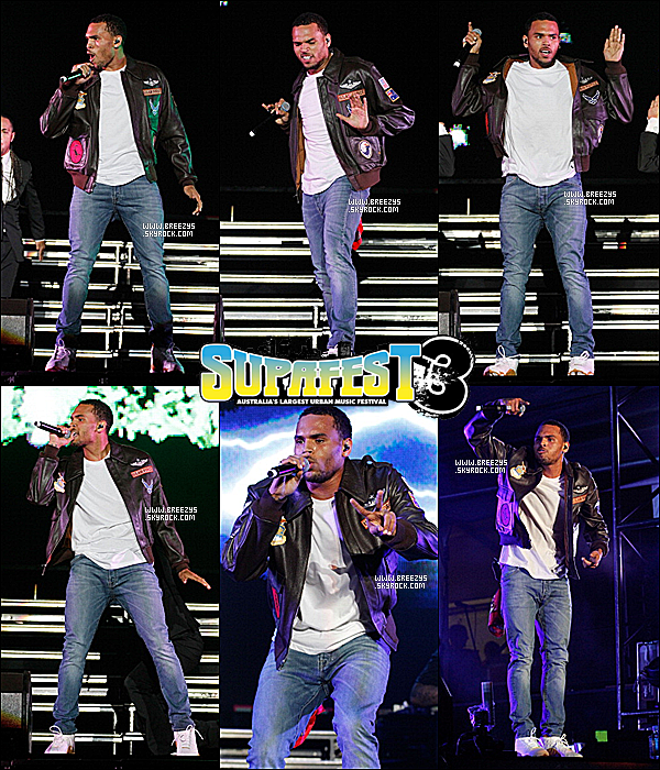 """. """"Breezys"""" : - Chris BrownPerform Pour #Supafest 2012 en Australie. (Cette Article En Colab avec La Meilleur WebmissOriane)!!. Chris A Poster Des Photos Sur SonCompte InstagramVia Twitter !!!!.....  ."""