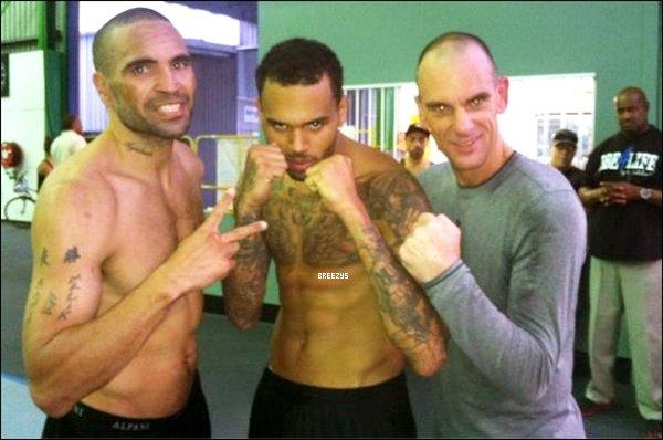 """. """"Breezys"""" : - Chris Brown & Trey Songz dans un club de boxe à Sydney. !!. RDV Pour La Prochaine PROMO #FORTUNE Pour La #TeamBreezyFR (FRANCE).  ."""