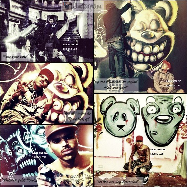 ". ""Breezys"" : - Chris Brown & Karrueche In Airport . !!. Chris A Poster Des Photos Sur Son Compte InstagramVia Twitter !!!  ."