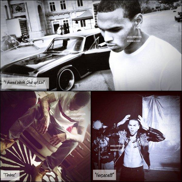 """. ♦ Breezys:-Chris Brown était à l'aéroport « Australie » de Aus le 24 avril. Le Tournage Du Clip """"Sweet Love"""" Commence « Los Angeles »!  ."""