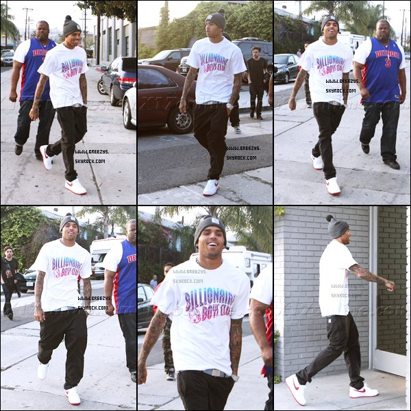 """. ♦ Breezys : - Chris a été aperçu au Studio de Los Angeles . Chris Brown Sur Le Tournage Du Clip """"Take It To The Head"""" De DJ Khaled!  ."""