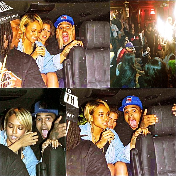 ". ♦ Breezys : -  Chris a été vu au Club ""Las Palmas"" Avec Karrueche et Big Hood . ♥ Top ou Flop ?   Photos de Chris postées sur Instagram Via Twitter !  ."