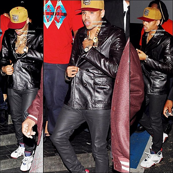 . ♦ Breezys : -  Chris Brown Parties avec des amis à Greystone Manor A Beverly Hills . ♥ Top ou Flop ? 1 ere photo Nicki & Chris Clip Right by my side !  .