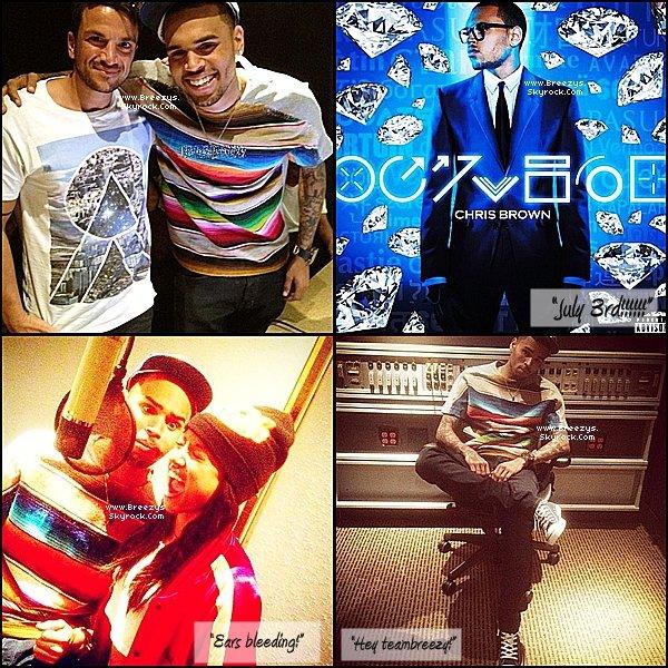 """. ♦ Breezys : - Chris Brown a éte vu avec Karrueche Au Club """"BOA Steakhouse"""". Naked en Exclu +Photos de Chris postées surInstagramVia Twitter !!!  ."""