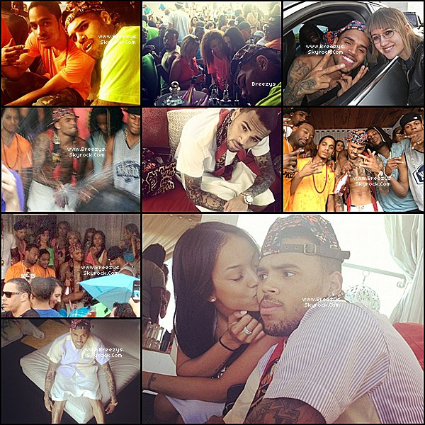 ". ♦ Breezys : -  Chris Brown a éte vu au Club ""Neon Party "" a Hollywood, California. Tracklist De #FORTUNE   ."
