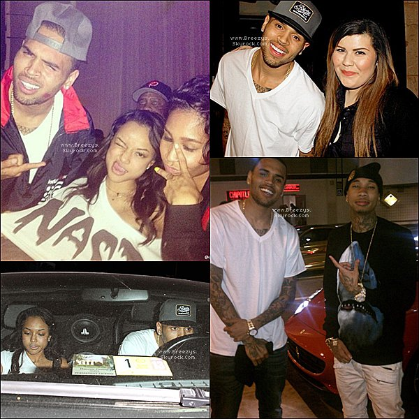 ". ♦ Breezys : -  Chris Brown a éte vu au Club ""The Supperclub"" avec Tyga a Hollywood . Decouvrez Le BTS #TillIDie!  ."
