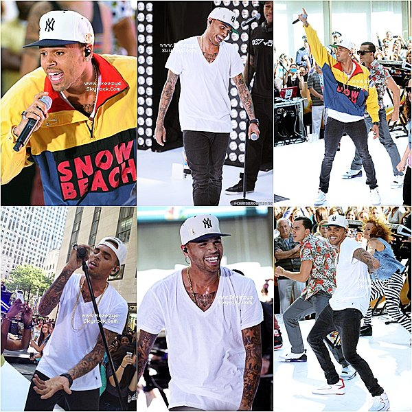 . ♦ Breezys : -  Chris Brown Perform #TodayShow      .
