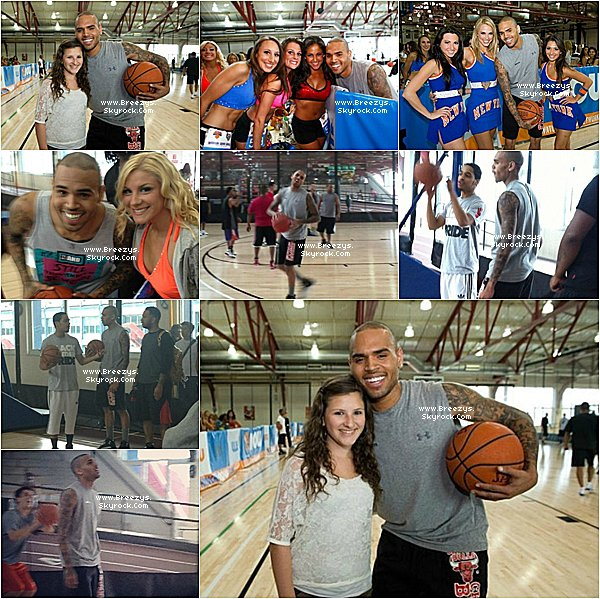". ♦ Breezys : - 09/06/12: Notre Chris Brown vu Jouer Au Basket avec Des amis au ""Chelsea Piers Sports"" & ""Entertainment Complex"" in NYC.  ."