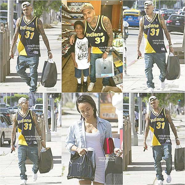 . ♦ #Breezys : -  Chris a été vu Avec Karrueche Faire Du Shopping a Hollywood  ! .  .