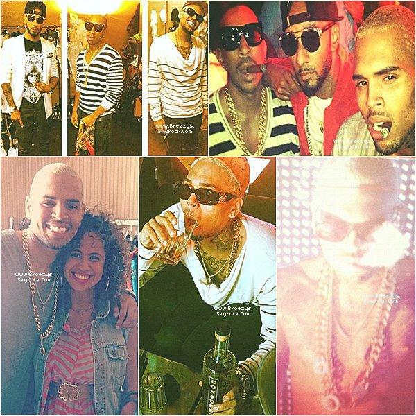""". ♦ #Breezys :- """"Chris Brown Apperçu Dans Un Club a St Tropez (FRANCE)""""#Breezys"""".  ."""