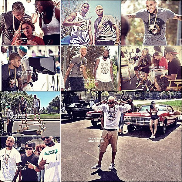 """. ♦ #Breezys:-. ♦ Chris Brown Sur Le Tournage Du Clip De Game """"Célébration"""". + Photos de Chris postées sur «Instagram» Via Twitter !!.  ."""
