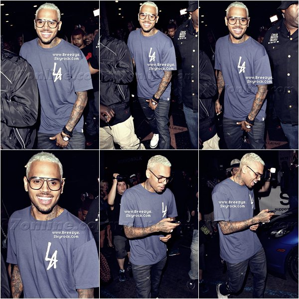 ". Chris Brown au ""SupperClub"" avec Karrueche a Los Angeles. ."