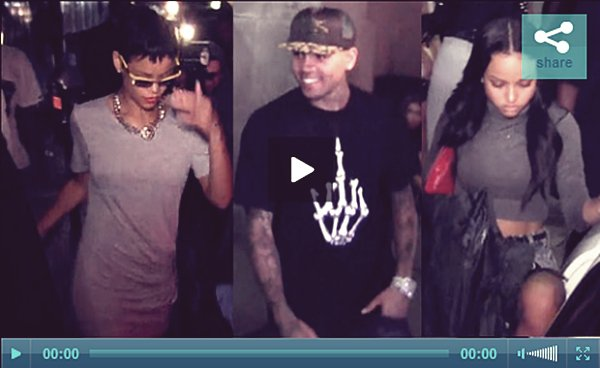 . Chris Brown x Karrueche au Club Pour « Playhouse » a Los Angeles . .