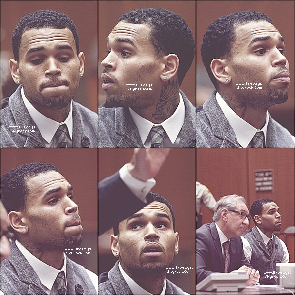 . Chris Brown au tribunal a Los Angeles . .