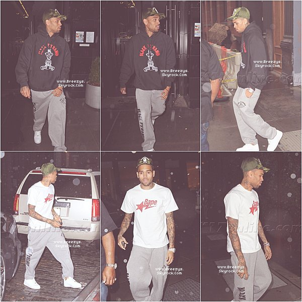. PHOTOS : Chris Brown apperçu avec Karrueche a L'hotel a New York #Breezys .. .