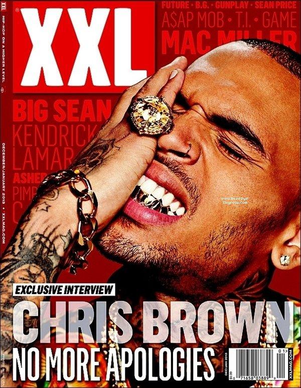 . Chris B. fait la couverture du magazine mexicain «XXL» du mois de décembre/janvier 2013... .