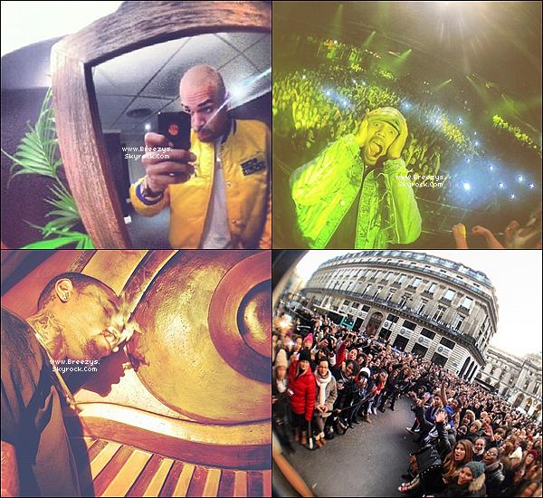 """. Chris B. a donné un Concert toujours dans le cadre de la tournée""""CarpeDiem Tour""""d'Anvers  +Amsterdam  +PARIS BERCY . ."""