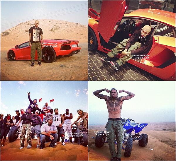 """. Chris B. a donné un Concert toujours dans le cadre de la tournée""""CarpeDiem Tour""""Dubaï [Emirates Arabes Unis]. ."""