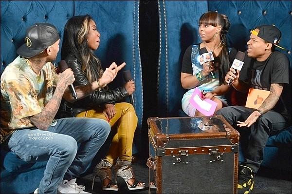 """. Chris B. Apperçu avecSevynsur 106 & Park a """"Los Angeles""""pour Promouvoir le single de sevyn """"I like it"""". ."""