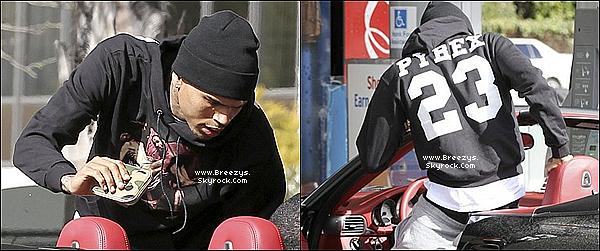 . Chris B. repéré aujourd'hui à une station d'essence à Los Angeles. .