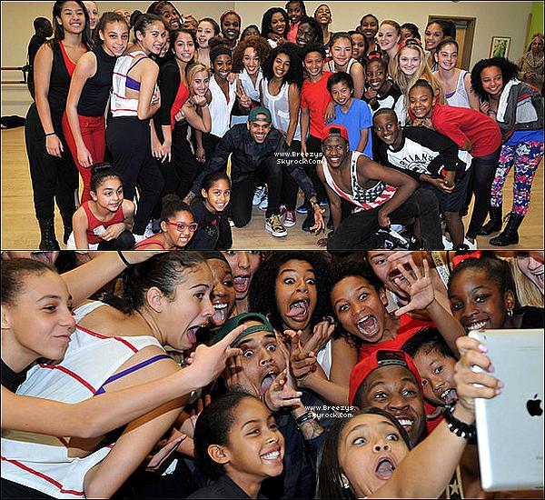 """. Chris B. apperçu Rendre visite """"Debbie Allen Dance Academy"""" a Los Angeles. ."""