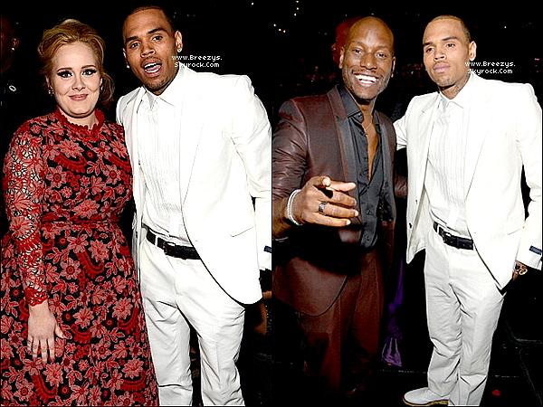 """. Chris B. était présent a la """"55 ème cérémonie des Grammy Awards"""" au Staples Center a Los Angeles. ."""
