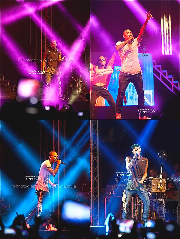 . 5.03.2013 : Le beaux Chris Brown a donner un concert toujour dans le cadre de la tourner 'CarpeDiemTour' au 'stadium d'accra' au Ghana. .