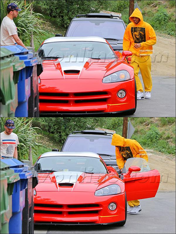 . 7.03.2013 : Le beaux Chris Brown a été photographiée en sortant de cher lui avec son Cousin Aaron Brown a Los Angeles. .