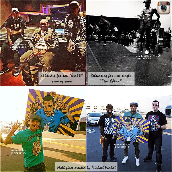 . 11.03.2013 : Le beaux Chris Brown était sur le tournage du clip 'Ready' avec Fabolous a Los Angeles. .