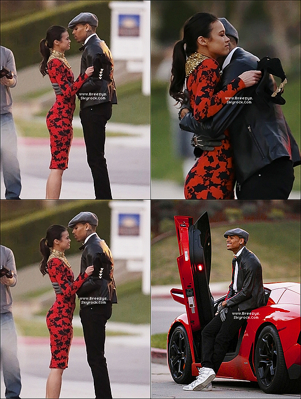 . 13.03.2013 : Le beaux Chris Brown était sur le tournage du clip 'Fine China' a Los Angeles. .