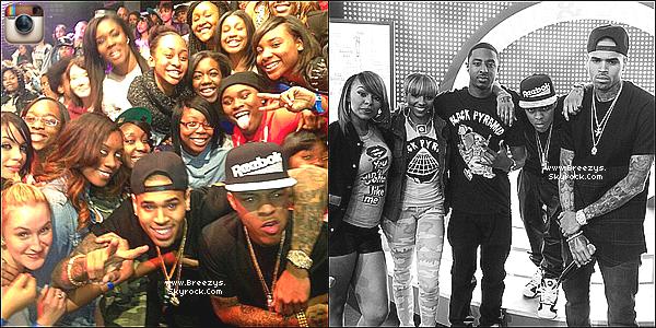 """. 1.04.2013 : Le beaux Chris Brown a présent au """"106 & park"""" pour la sortit du clip """"Fine China"""". ."""