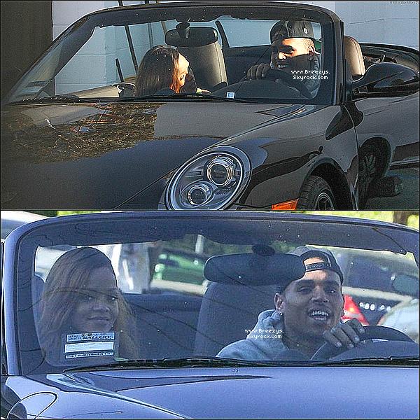 . 11.04.2013 : Le beaux Chris a été aperçue avec Rihanna fesant du shopping sur Wild Style à Los Angeles. .