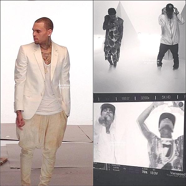 . 22.04.2013 : Le beaux Chris a été sur le tournage du prochain clip « For The Road ». .
