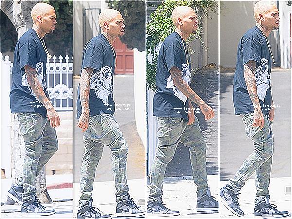 . 4.05.2013 : Le beaux Chris a été photographiée dans les rues de Los angeles. .