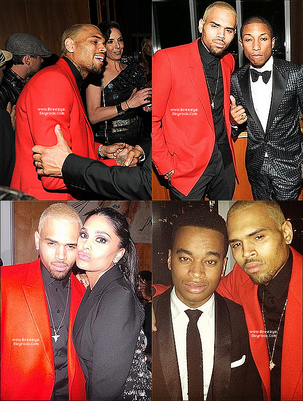 ". 6.05.2013 : Le beaux Chris a été apperçus au gala de ""Punk Choas de costume"" a New York . ."