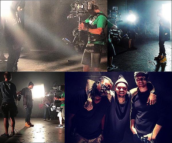 """. 12.05.2013 : Chris à été aperçue sur le lieu de tournage du clip """"They Don't Know"""".. ."""