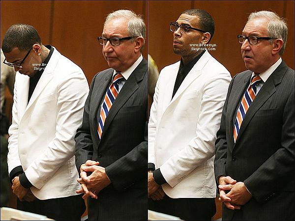 . 10.06.2013 : Chris a été présent au tribunal pour sa probation a Los Angeles. .
