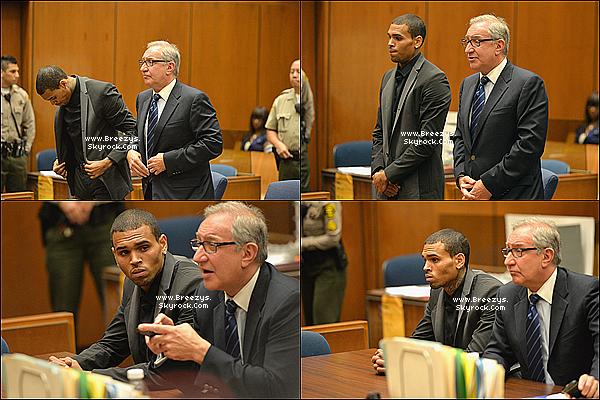 . 16.07.2013 : Chris a été présent au tribunal pour sa probation a Los Angeles. .