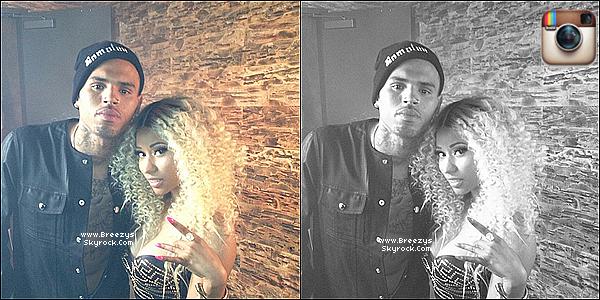 ". 02.08.2013 : Chris apperçu sur le tournage ""love More"" Avec Nicki Minaj. ."