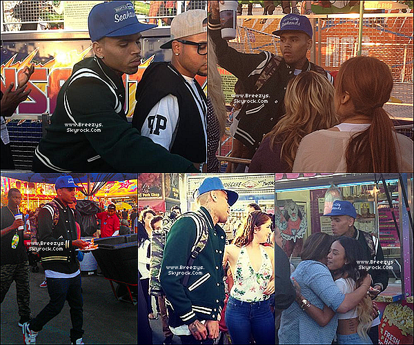". 05.08.2013 : Chris apperçu en train s'amuser a ""OC Fair"" a Los Angeles. ."