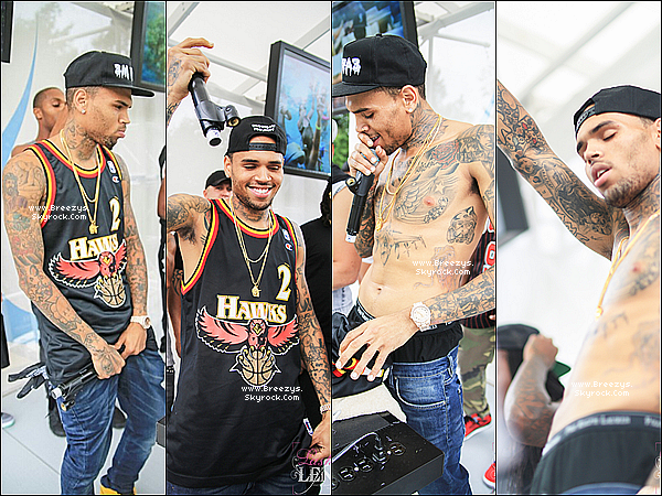 . 18.08.2013 : Chris a été présent a la pool party MGM Foxwoods au Connecticut. .