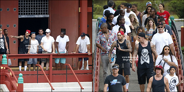 """. 25.08.2013 : Chris été sur le tournage de sa prochaine video """" Autumn"""" en duo avec Kendrick lamar a Hawaii. ."""