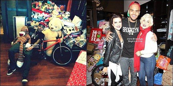 """. 22.12.2013 : Chris a été présent au """"XMAS TOY DRIVE"""" a Los Angeles. ."""