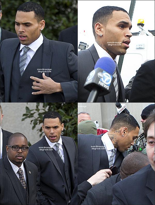 . 08.01.2014 : Chris a été présent au tribunal pour sa probation a Washington DC. .