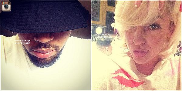 . 02.06.2014 : Chris a été apperçu devant chez lui a Los angeles pour son retour cher lui. .