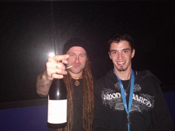 avec le chanteur de Eluveitie - 26/10/2010