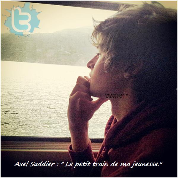 .  Valentin a posté quatre nouvelles photos sur son compte Twitter, il apparaît aussi sur deux photos d'Axel Saddier posté par ce dernier sur son compte Facebook. + TOP, BOF, FLOP ?.  .
