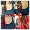 se colorer les cheveux avec des craies ou des pastels