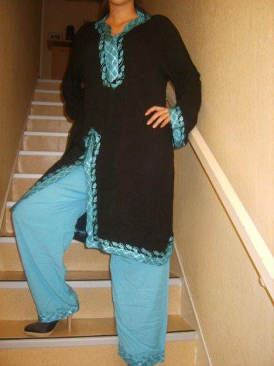 Jabador noir et bleu
