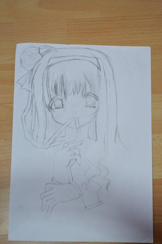 Et voici la suite du dessin que je traîne depuis je sais pas combien de temps !